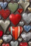 Cose a forma di del metallo del cuore Fotografie Stock Libere da Diritti