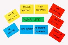 Cose per il concetto felice di vita Immagine Stock
