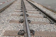 Cose up: stary kolejowy most nad rzecznym Kwai, Kanchanaburi Fotografia Royalty Free