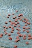 Cosecha abstracta simple del día de tarjeta del día de San Valentín fotos de archivo