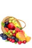 Cosecha de frutas en el fondo blanco Fotografía de archivo libre de regalías
