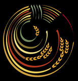 Cosecha de la insignia. Foto de archivo libre de regalías