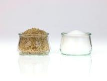 Cosecha de la sal y de la sal Imágenes de archivo libres de regalías