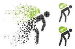 Cosecha de semitono de desaparición Porter Icon del pixel ilustración del vector
