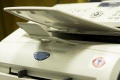 Cosecha del cierre de la máquina de fax Foto de archivo