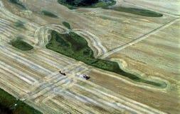 Cosecha en Montana Imagen de archivo