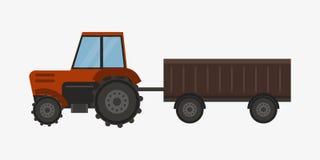 Cosechadora industrial del tractor de la maquinaria del equipamiento agrícola de la agricultura y coche rural del maíz de la maqu Imagen de archivo
