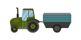 Cosechadora industrial del tractor de la maquinaria del equipamiento agrícola de la agricultura y coche rural del maíz de la maqu Fotografía de archivo