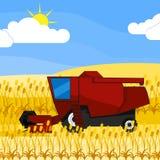 Cosechadora roja Imagen de archivo libre de regalías