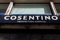 Cosentino logo on Cosentino building stock photography