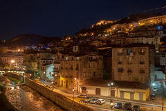 Cosenza by night Royalty Free Stock Image