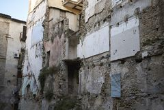 Cosenza velho de construção desmoronado Foto de Stock Royalty Free