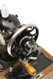 Coser-máquina en el fondo blanco Foto de archivo libre de regalías
