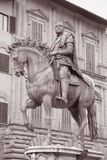 Cosimo I de Medici Equestrian Statue by Giambologna, Florence Stock Image