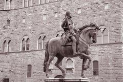 Cosimo I de Medici Equestrian Statue by Giambologna, Florence Stock Photography