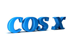 Cosine of X Trigonometry Math Function. 3D Rendering Illustration Stock Photography