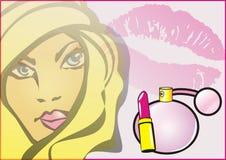 Cosméticos de las mujeres stock de ilustración