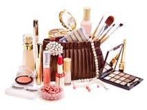 Cosméticos decorativos para el maquillaje. Fotografía de archivo libre de regalías