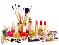 Cosméticos decorativos para el maquillaje. Imágenes de archivo libres de regalías