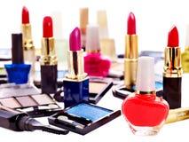 Cosméticos decorativos para el maquillaje. Fotografía de archivo
