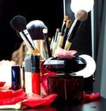 Cosméticos decorativos para el maquillaje Imagen de archivo