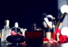 Cosméticos decorativos para el maquillaje Cierre para arriba Foto de archivo