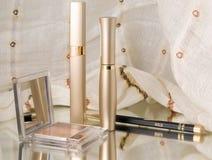 cosméticos en el espejo Fotos de archivo