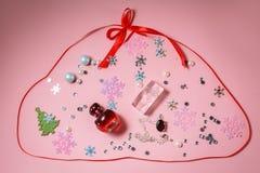 cosméticos no simbolismo do ` s do ano novo imagem de stock royalty free