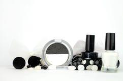 Cosméticos preto e branco Fotos de Stock
