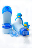 Cosméticos y juguetes del baño Imágenes de archivo libres de regalías