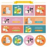 Cosmétique de ménage et de nourriture de boissons Photo stock