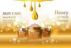 Cosmétique de soins de la peau image stock