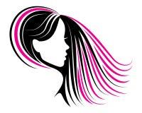 Cosmétiques de logo de cheveux de salon de beauté illustration de vecteur