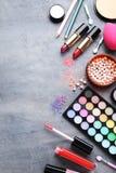 Cosmétiques de maquillage photo stock