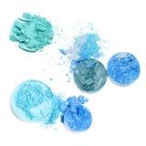 Cosmétiques de maquillage Palette écrasée par fard à paupières, fard à paupières coloré photographie stock libre de droits