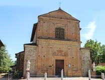 Cosma和达米亚诺教会在Grazzano Visconti 免版税库存照片