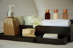 Cosmetic. Amenities in a 5 star Spa resort Royalty Free Stock Image