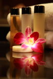 Cosmetic. Amenities in a 5 star Spa resort Stock Images