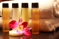 Cosmetic. Amenities in a 5 star Spa resort Stock Photos