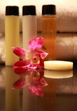 Cosmetic. Amenities in a 5 star Spa resort Royalty Free Stock Photos