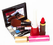 Cosmetic. Products on white background Royalty Free Stock Photography