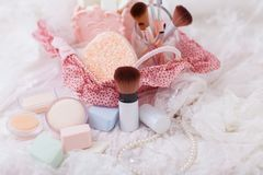 Cosmetic accessories Royalty Free Stock Photo