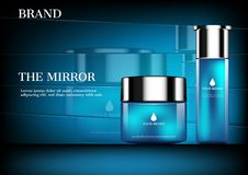 Cosmetic ad concept mock up stock images
