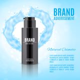 Cosmetic ads template Royalty Free Stock Photo