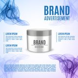 Cosmetic ads template Stock Photo