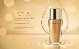 Cosmetic ads template Royalty Free Stock Photography
