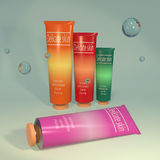 Cosmetic aids products 3d illustration Stock Image