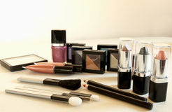 Cosmetic assortment Stock Images
