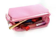 Cosmetic bag Royalty Free Stock Photography