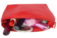 Cosmetic bag. Royalty Free Stock Photo